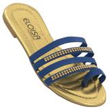 Rasteirinha Feminina Eloisa Fashion Azul 400