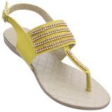 Sandália Rasteira Atenas amarela 151