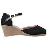 Sapato feminino Via Bella de Veludo 1134 Preto