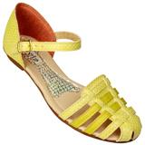 Sandália Flavia 504 Amarelo Cobra/Ouro