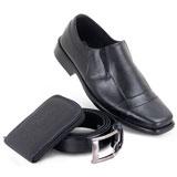 Kit Carteira, Cinto e Sapato em Couro