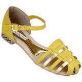 Sandália Feminina Flávia 526 Amarelo/Ouro