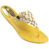 Chinelo MissMiss Bolas 9711 Amarelo
