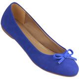 Sapatilha Feminina Atenas Color 9219212 Nobuck Azul