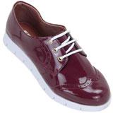 Sapato feminino Oxford Kalyta 4006 Bordô