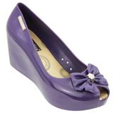 Sapato Feminino Miss Miss Peep Toe 9670 Roxo