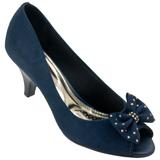 Sapato Peep Toe Femenino Beira Rio 4779102 Marinho