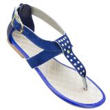 Sandália Rasteira  Azul Ana Julia 800