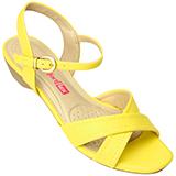 Sandália Feminina Comfortflex Luxo Amarelo 1462422