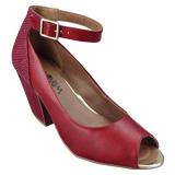 Sapato Peep Toe  Ramarim Vermelho 1445104