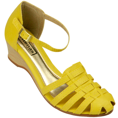Sandália Feminina Atenas do Brasil 019 Amarelo