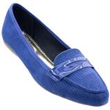 Sapato Feminino Beira Rio Camurça Azul 4098120