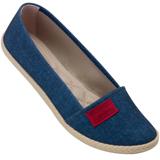 Sapatilha feminina Moleca 5287113 Jeans Escuro