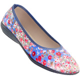 Sapatilha Feminina Salto Mini Kinsk 602 Azul Floral
