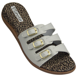 Birken Tripla Feminina Fl�via 508 Branco/On�a