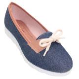 Sapatilha feminina 8500 Jeans Azul