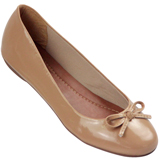 Sapatilha Feminina Atenas Color 8219212 Verniz Light Tan