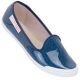 Sapatilha feminina Moleca 5109436 Jeans Verniz