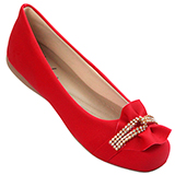 Sapatilha Feminina Vermelho Durban 439084