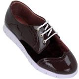 Sapato feminino Oxford Kalyta Camurça 4008 Café