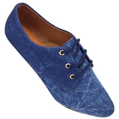 Sapato Oxford Jeans Manchado 4011TC