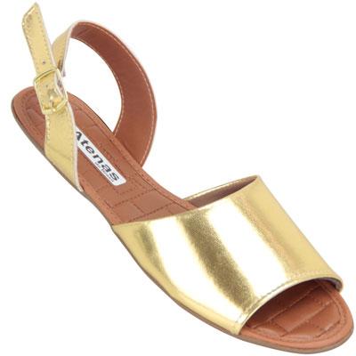 Sandália feminina Kalyta 1790 Ouro
