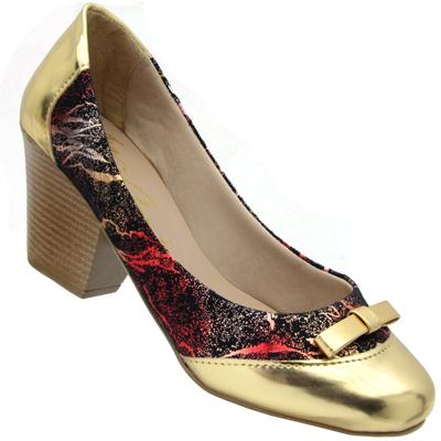Scarpin Feminino Color/ouro 75