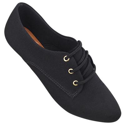 Sapato Oxford Preto Lona 4011TC