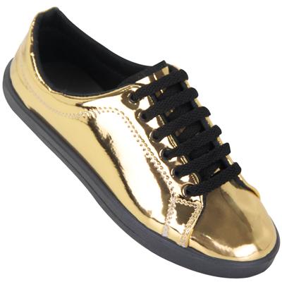 Tênis Byara 320 Ouro amarelado