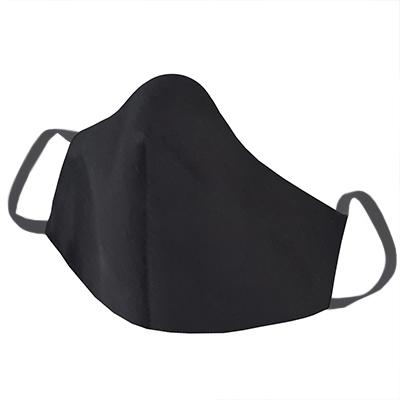 Mascara em Tecido Lavável Reutilizável Preto-2elastico preto