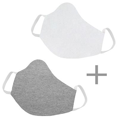 2 Mascara em tecido Lavável Reutilizável