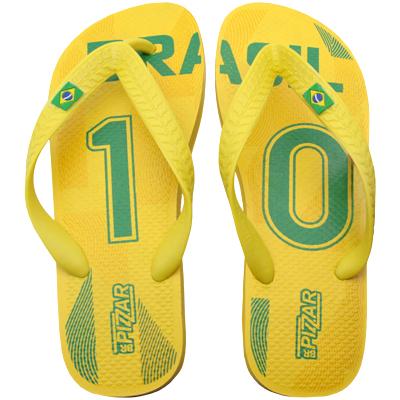 Chinelo Pizzar Brasil Amarelo