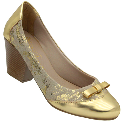 Scarpin Feminino ouro 75