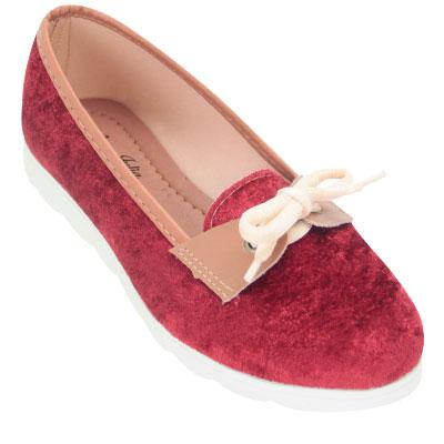 Sapatilha feminina 8500 Vermelho Veludo