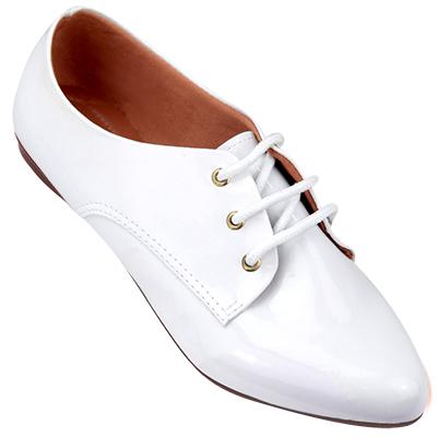 Sapato oxford feminino 4011VZ Branco