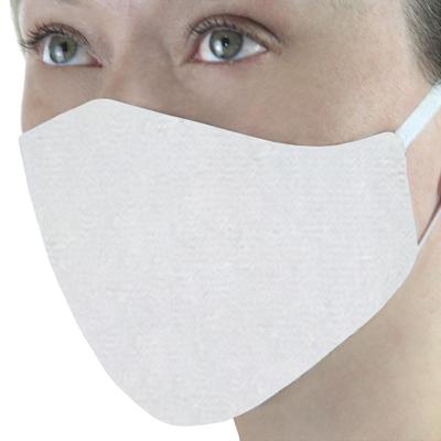 Mascara em Tecido Lavável Reutilizável Branca