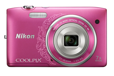 1001884 - M�quina Digital Nikon 20.1MP CoolPix S3500 Rosa