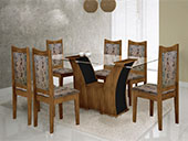 1013191 - Mesa Sala Rufato Barcelona  6 Cadeiras