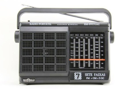 1047202 - R�dio Port�til Motobr�s 2 Faixas RM PFT 22AC Biv
