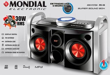 1053081 - Mini System Mondial Ms08 30W RMS