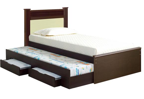 582186 - Cama Solteiro Bi-box Ideal tabaco/branco - Bom Pastor