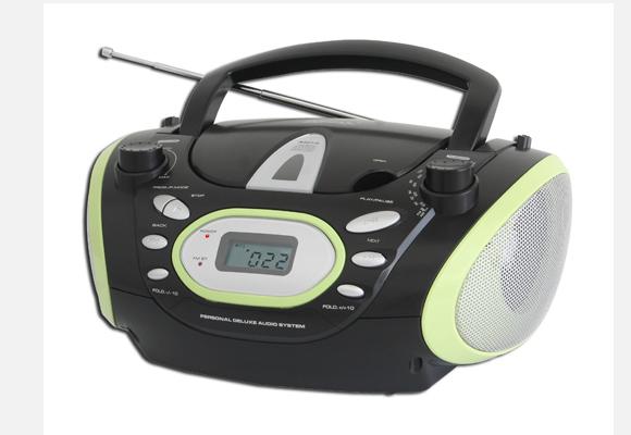 729086 - R�dio CD Lenoxx Bd 119 Mp3, R�dio AM/FM, Display LCD