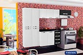 Cozinha Compacta Colormaq 3 pe�as Class Slin