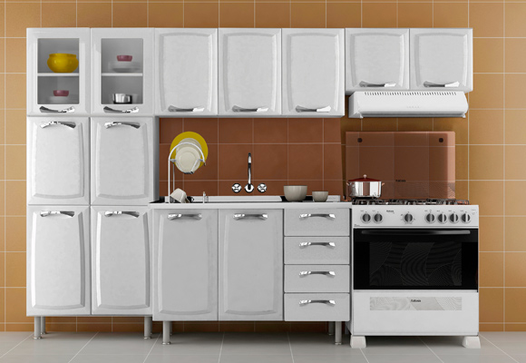 757133 - Cozinha Premium Itatiaia 3 Pe�as Branco