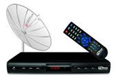 758840 - Kit TV Free Cromus c/ Parab�lica e Receptor Monoponto Bivolt