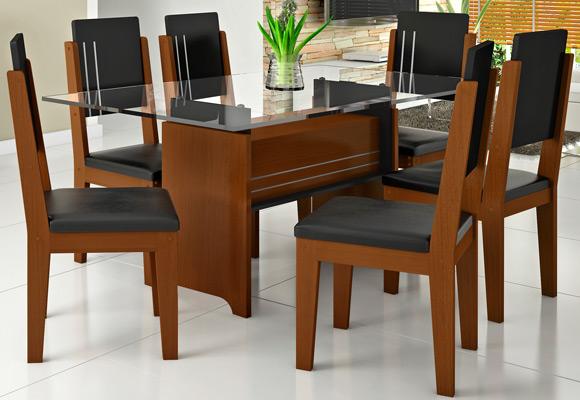 807043 - Mesa RV M�veis p/ Sala Esmeralda c/ 6 Cadeiras