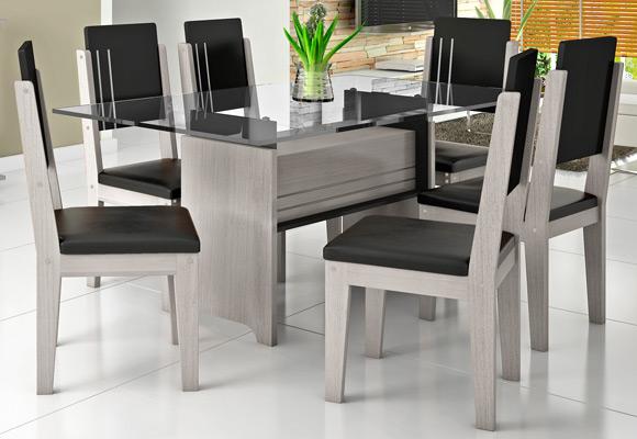 807074 - Mesa RV M�veis p/ Sala Esmeralda c/ 6 Cadeiras
