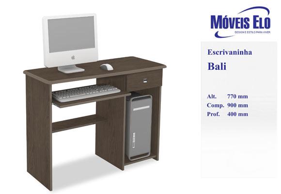853354 - Escrivaninha Bali Moveis ELO tabaco