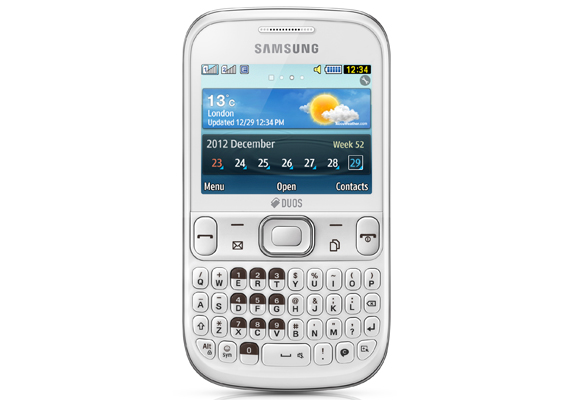 869973 - Samsung Ch@t 333 Duos - Branco