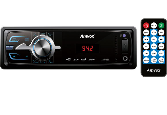 Auto R�dio Amvox ACR 1000 Preto